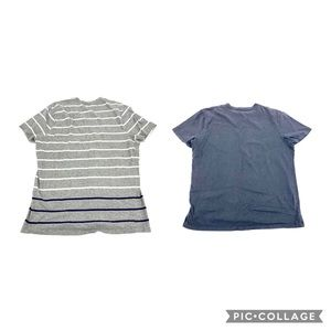 Two men's Banana Republic v neck tees L